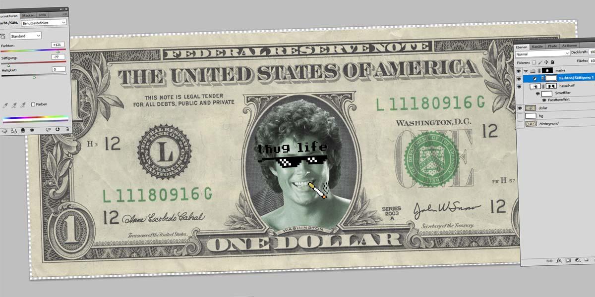 ハッセルホフ ドル - Photoshop チュートリアル: ツール、クロップ、マジックワンド、マスク